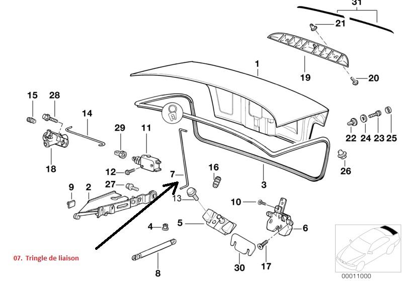 [ BMW E36 318 TDS an 1996 ] ouvrir un coffre verrouillé et