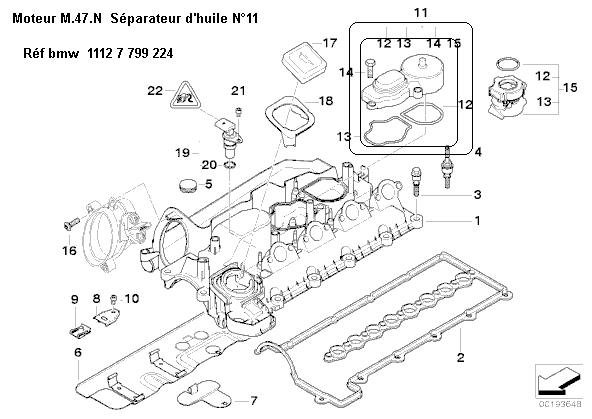 [ BMW e39 520d an 2001 ] séparateur d'huile compatible