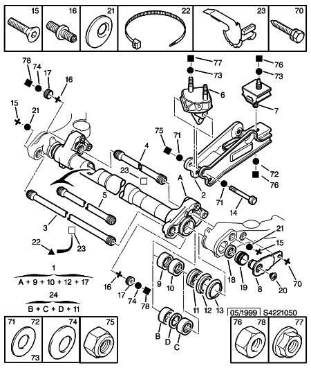 [ Citroën Xsara 1,4i an 1998 ] Jeu anormal train arrière