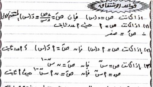 مذكرة التفاضل للصف الثالث الثانوى 2019 أ/ على حمدون 1726