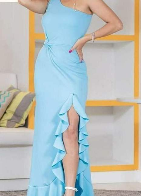 Vestido de Festa Azul 2022 Azul serenity