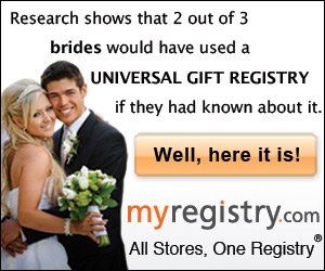 Research shows that 2 out of 3 brides would have used a Universal Gift Registry if they had known about it.
