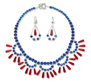 Patriotic Bib Style Necklace Tutorial