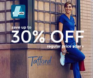 Save up tp 30% Off Adar Scrubs @Tafford