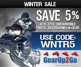 Save 5% on ATV/UTV Parts, Accessories & More at GearUp2Go.com! Use Code: WNTR5