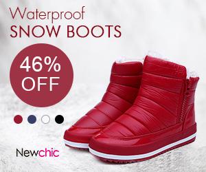 46% Off Women Waterproof Pure Colour Snow Boots , fall fashions, trending women's fashions
