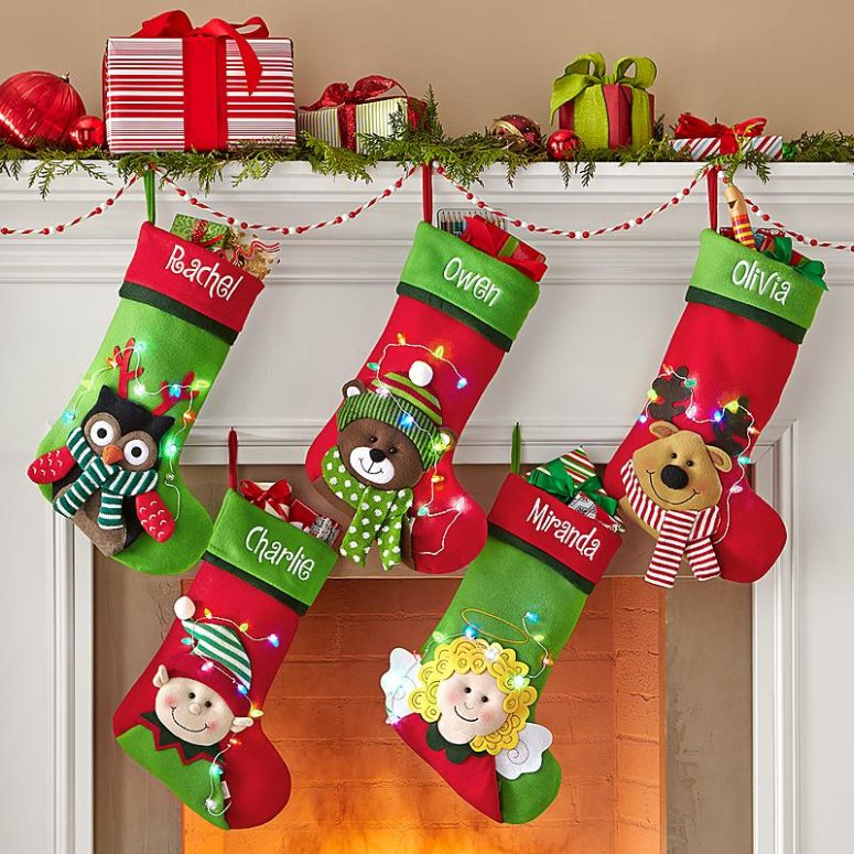 Plain Christmas Stockings To Decorate