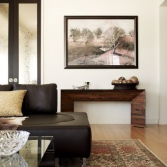 Living Room Console Black High Gloss Furniture 47 Table Decor Ideas Shelterness Modern Wood Solution For A