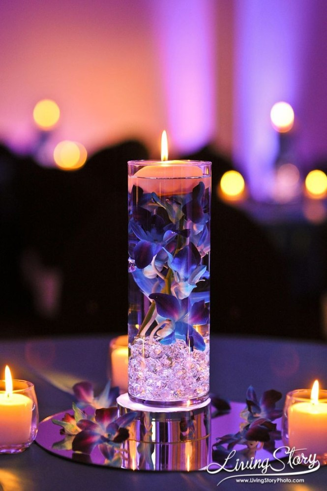Submerged Wedding Table Centerpieces
