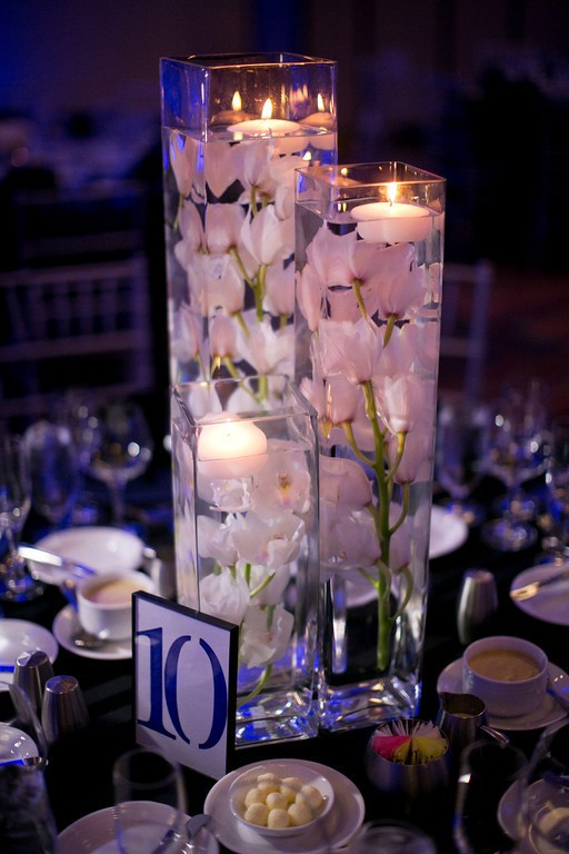 Centerpieces Wedding Water Candles