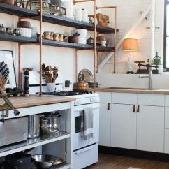 Wood Shelves Kitchen Decorative Trash Cans 65 Ideas Of Using Open Wall Shelterness Copper And Are Great Additions To Standard Ikea Cabinets