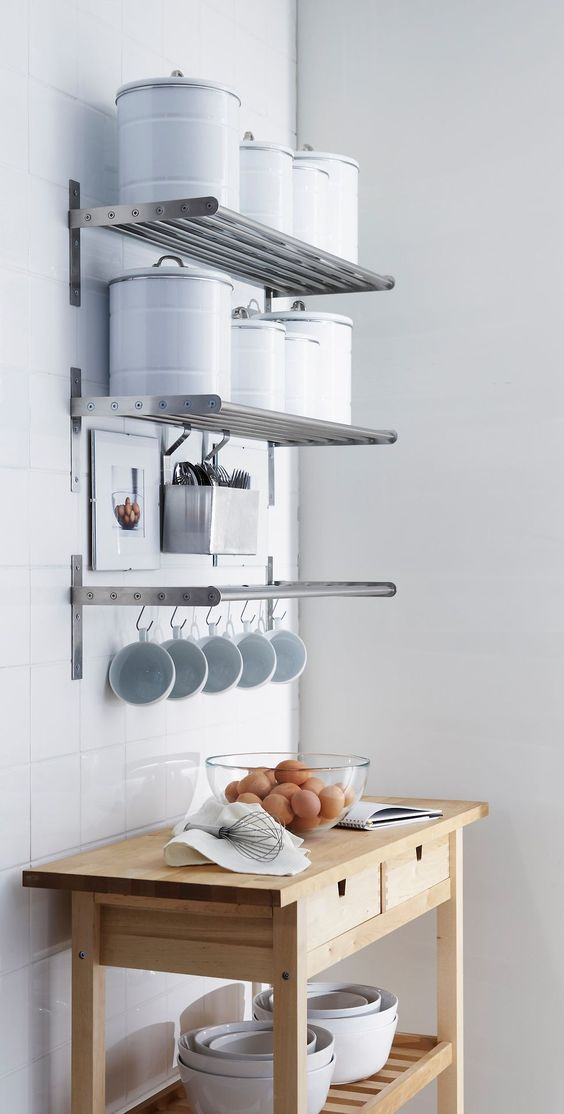 shelves for kitchen skinny cabinet 65 ideas of using open wall shelterness metal is a great and very practical material which could be used several