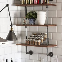 Kitchen Shelving Units Cupboard Doors 65 Ideas Of Using Open Wall Shelves Shelterness Wood And Plumbing Pipe Unit That Could Become Your Next Diy Project