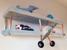 Picture Of you can diy an airplane shelf for a boys room ...