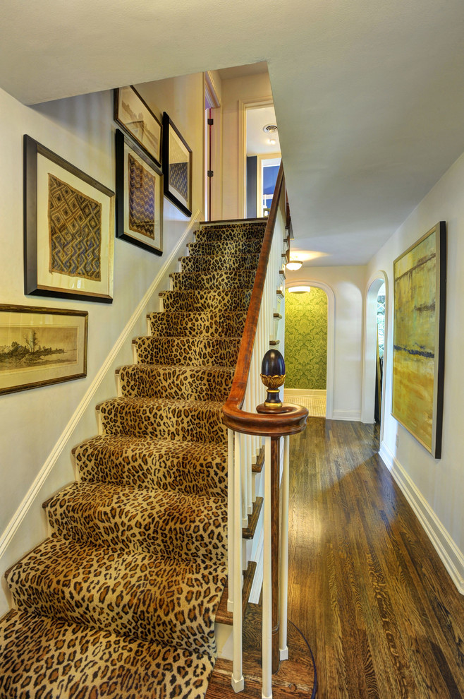 Animal Print Wallpaper For Home 43 Cool Carpet Runners For Stairs To Make Your Life Safer