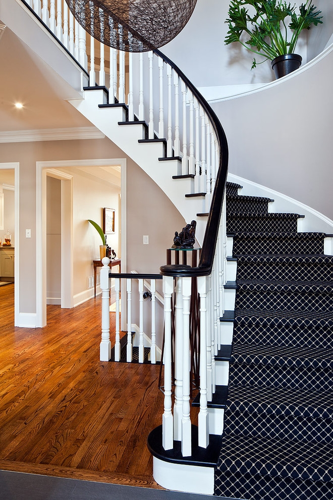 43 Cool Carpet Runners For Stairs To Make Your Life Safer | Black And White Stair Runners | Staircase | Hallway | Cool | Diy | Jute