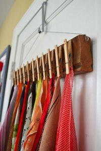 59 Scarf Storage Ideas That Inspire - Shelterness
