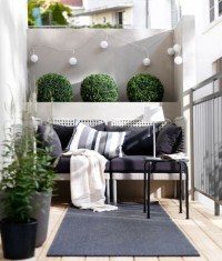 Picture Of modern balcony decor with cute little shrubs