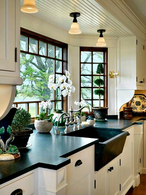 kitchen window ideas white sets 50 cool bay decorating shelterness the natural light coming from windows could make your cooking process much cooler