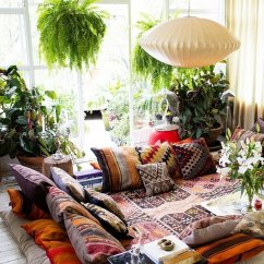 Living Room Pillows Floor Fabric Furniture 57 Cool Ideas To Decorate Your Place With Shelterness Bohemian Style Where Act As