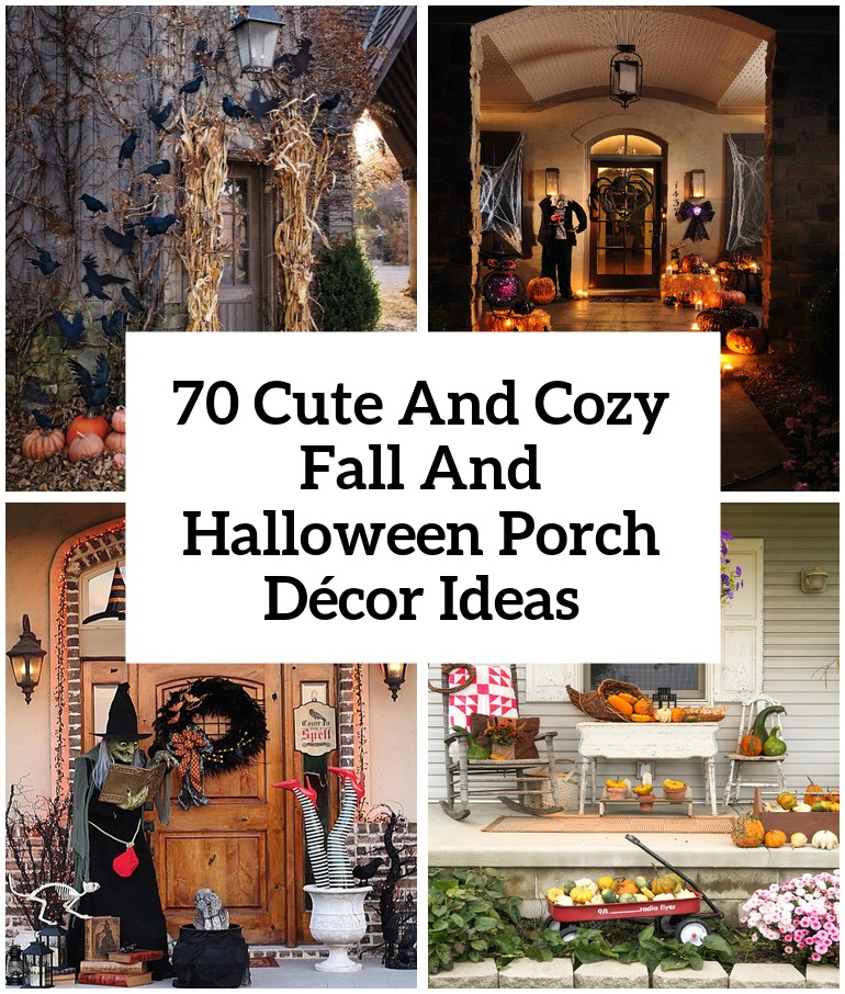 70 Cute And Cozy Fall And Halloween Porch Decor Ideas Shelterness