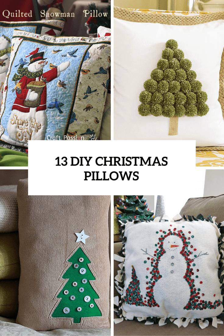 13 Fun DIY Christmas Pillows To Make Holidays Cozier  Shelterness