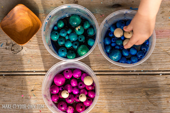 DIY Winter Wooden Bead Wreath To Make With Kids Shelterness