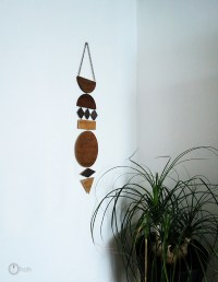 DIY Wall Art Jewelry From Stained Plywood - Shelterness