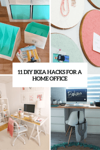 11 Exciting IKEA Hacks For Any Home Office - Shelterness