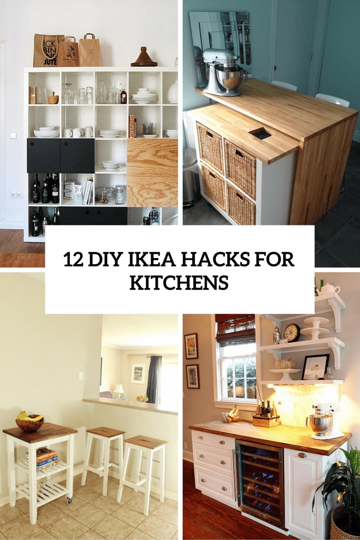 kitchen furniture ikea childrens play kitchens 12 functional and smart diy hacks for shelterness