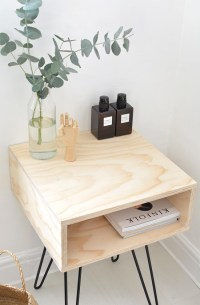 Chic DIY Mid-Century Modern Nightstand - Shelterness