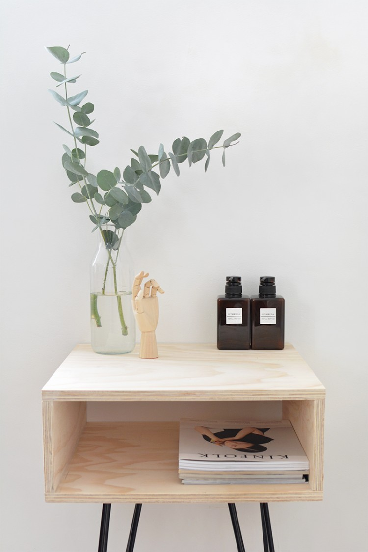 Chic DIY MidCentury Modern Nightstand  Shelterness