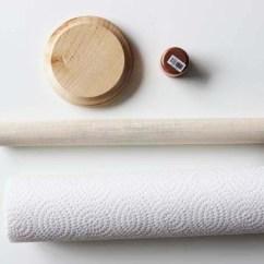 Rustic Kitchen Clock Wood Countertops Diy Wooden Dowel Paper Towel Holder - Shelterness