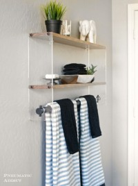 Diy Wooden Bathroom Shelves : Beautiful Pink Diy Wooden ...