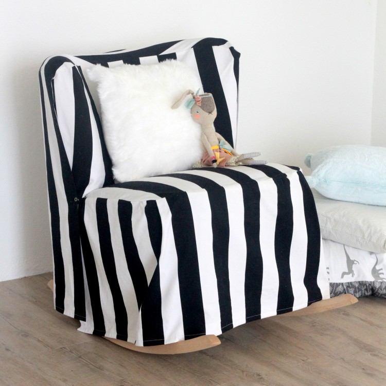 simple diy chair covers black outdoor chaise lounge easy striped slipcover shelterness