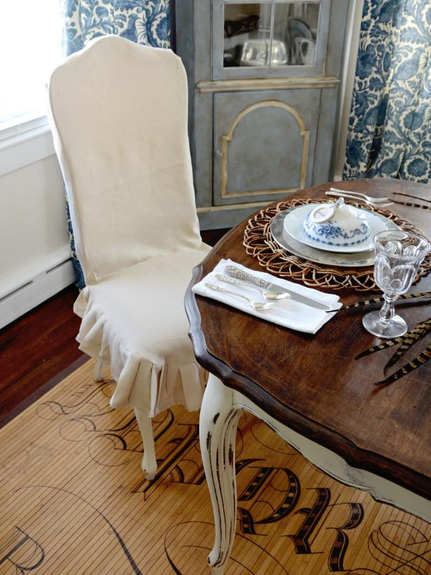 folding chair covers diy lifetime chairs warranty how to slipcover a or an armchair: 12 crafts - shelterness