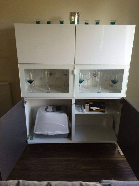 11 Simple DIY Kitty Litter Boxes And Loos From IKEA Units