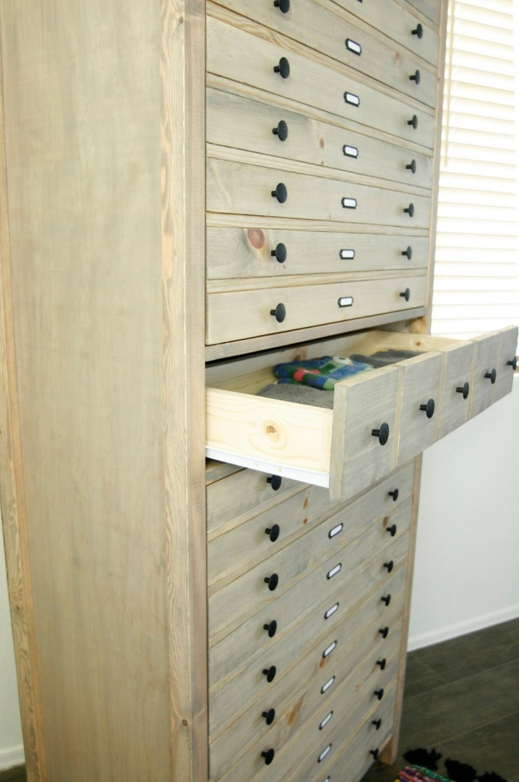 VintageInspired DIY Tall Printers Cabinet  Shelterness