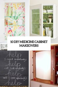 10 Cool DIY Medicine Cabinet Makeovers Youll Like ...