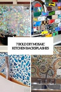 7 Cute And Bold DIY Mosaic Kitchen Backsplashes | Home ...