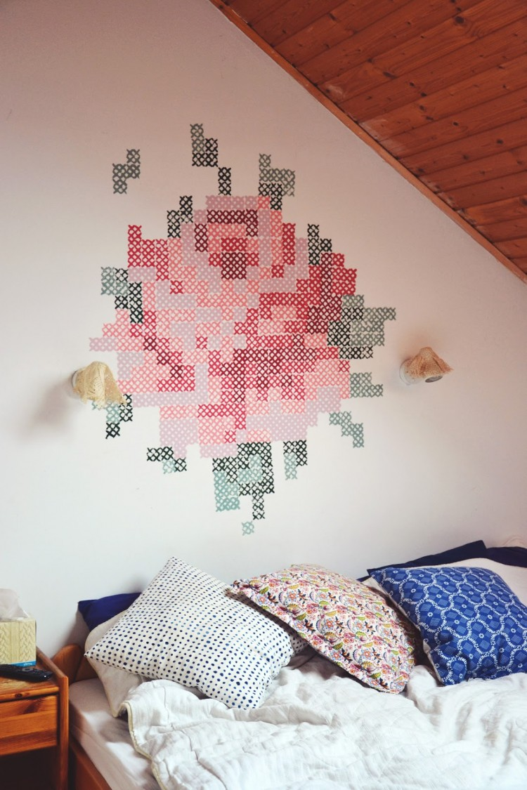 9 Adorable And EasyToMake DIY Wall Murals  Shelterness