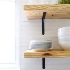 Wood Shelves Kitchen Estimate For Cabinets Airy-looking Diy Open Shelving - Shelterness