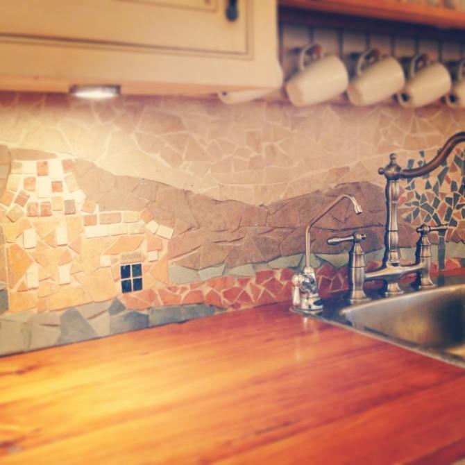 7 Cute And Bold DIY Mosaic Kitchen Backsplashes  Shelterness