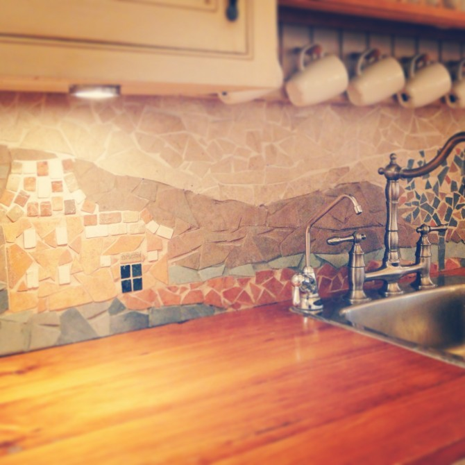 wall decorations for kitchen faucets pull down 7 cute and bold diy mosaic backsplashes - shelterness