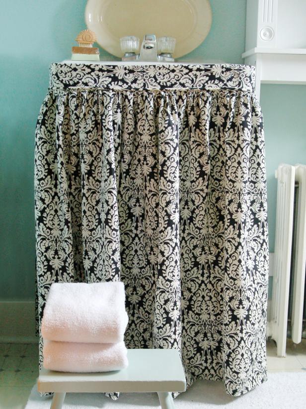 Cute Hidden Storage Idea 9 DIY Sink Curtains  Shelterness