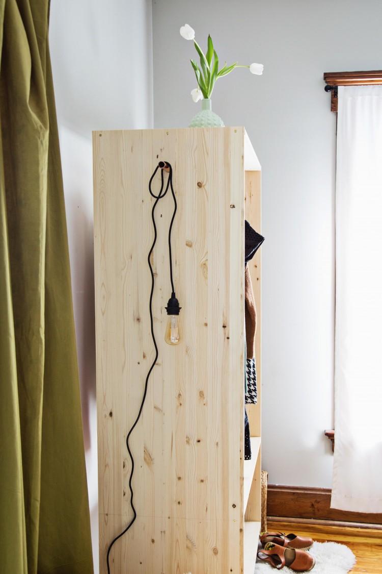 DIY Modern Wooden Wardrobe With Copper Details  Shelterness