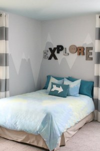 DIY Mountain Wall Mural For A Kids' Room - Shelterness
