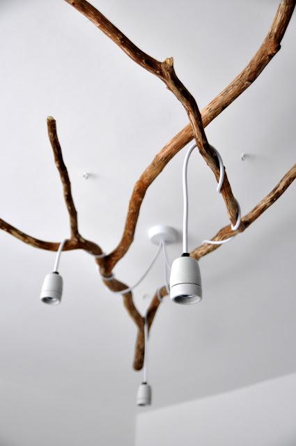 NatureInspired DIY Tree Branch Chandelier  Shelterness