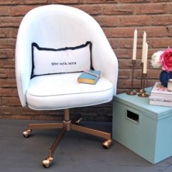 Desk Chair Diy Glider Chairs 14 Stylish Office Makeovers You Can Realize Shelterness Leather Repaint Via Decoist