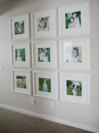26 Gallery Wall Ideas With Same Size Frames - Shelterness